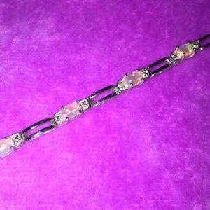 Jewelry - 925 Marked Silver & opal bracelet